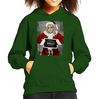 Christmas Mugshot Dolly Parton Kid's Hooded Sweatshirt