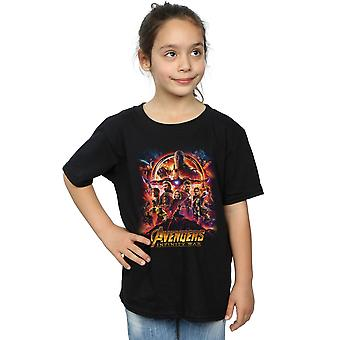 Marvel Girls Avengers Infinity War Movie Poster T-Shirt
