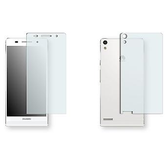 Huawei Ascend P6 display protector - Golebo crystal-clear protector (1 front / 1 rear)