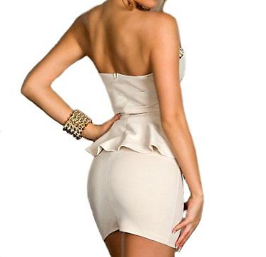 Waooh - Fashion - dress strapless peplum