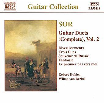 F. Sor - Sor: Guitar duetter, Vol. II [CD] USA importerer