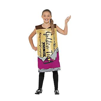 Roald Dahl Winning Wonka Bar Costume, Licensed Fancy Dress, Medium/Large