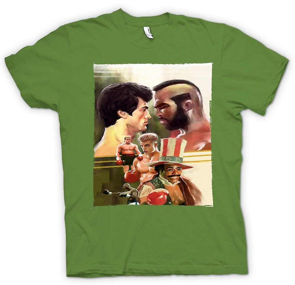Mens T-shirt - Rocky - Boxing Movie - Collage