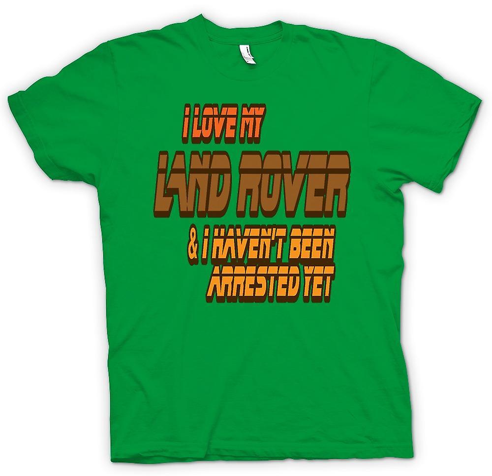 T-shirt des hommes - I Love My Land Rover