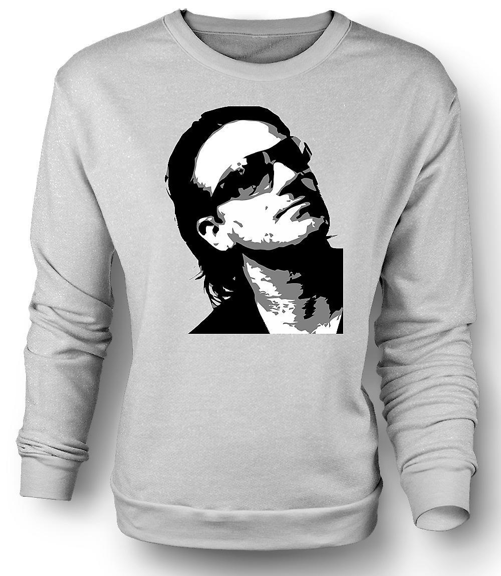 Mens felpa Bono U2 - BW