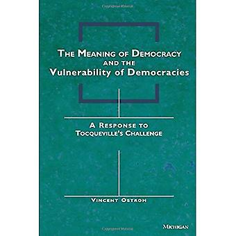 The Meaning of Democracy and the Vulnerabilities of Democracies: A Response to Tocqueville's Challenge