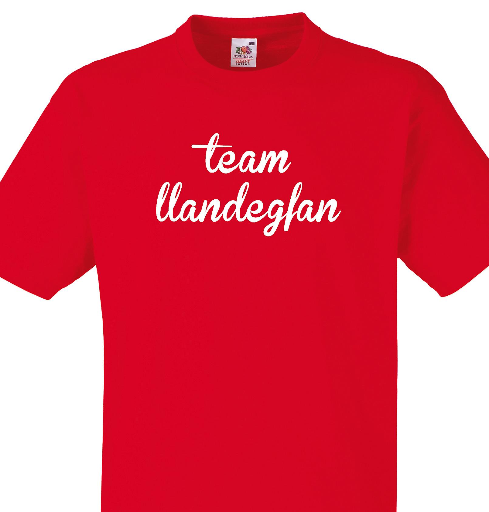 Team Llandegfan Red T shirt