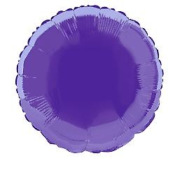 Foil Balloon Round Solid Metallic Deep Purple