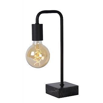 مصباح طاولة الأسود الصلب الرجعية لورين لسيد