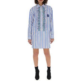 Vestido de algodón azul Prada luz