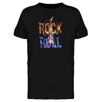 Flaming Rock And Roll t-skjorten menn-bilde av Shutterstock