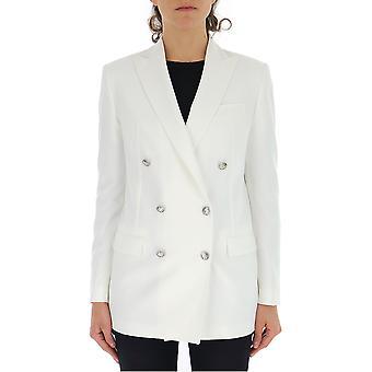 Tagliatore White Silk Blazer