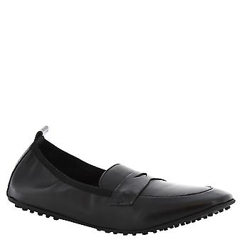 Leonardo Shoes Women's handmade ballerinas mocassins in black leather
