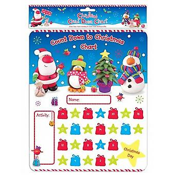 2 Count Down To Christmas Wipe & Write Activity Board With Stickers - (AKTX)