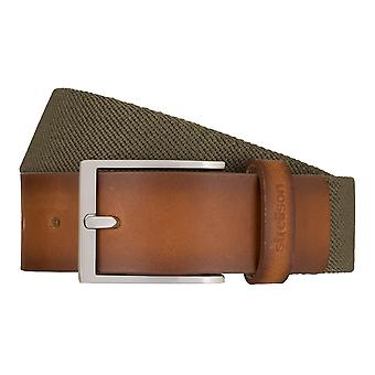 Strellson belts men's belts woven belt stretch belt olive/green 7946