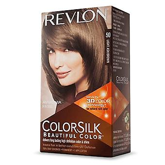 Revlon colorsilk hair color kit, #50 ash brown, 1 ea