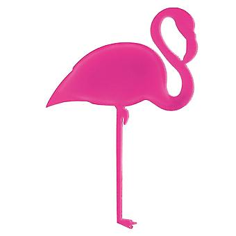 60mm Acrylrosa Flamingo Brooch