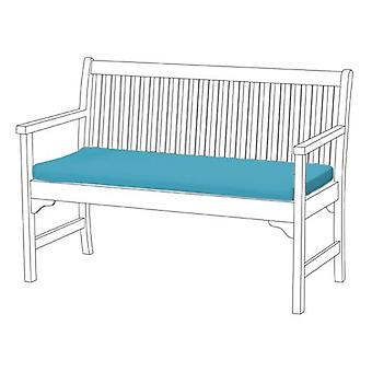 Gardenista® Turquoise Water Resistant 3 Seater Bench Pad
