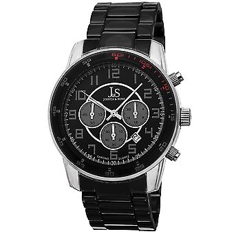 Joshua & Sons JS67SSB Chronograph Date GMT Color Accented