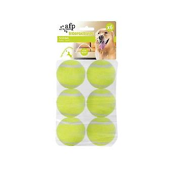 6 Pack Dog Fetch Balls Heavy Fetch N Treat