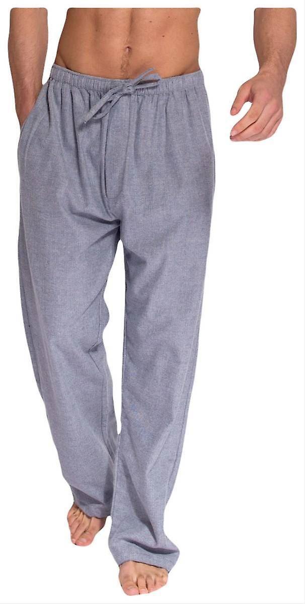 British Boxers Ash Herringbone Two Fold Flannel Pyjama Trousers - gris