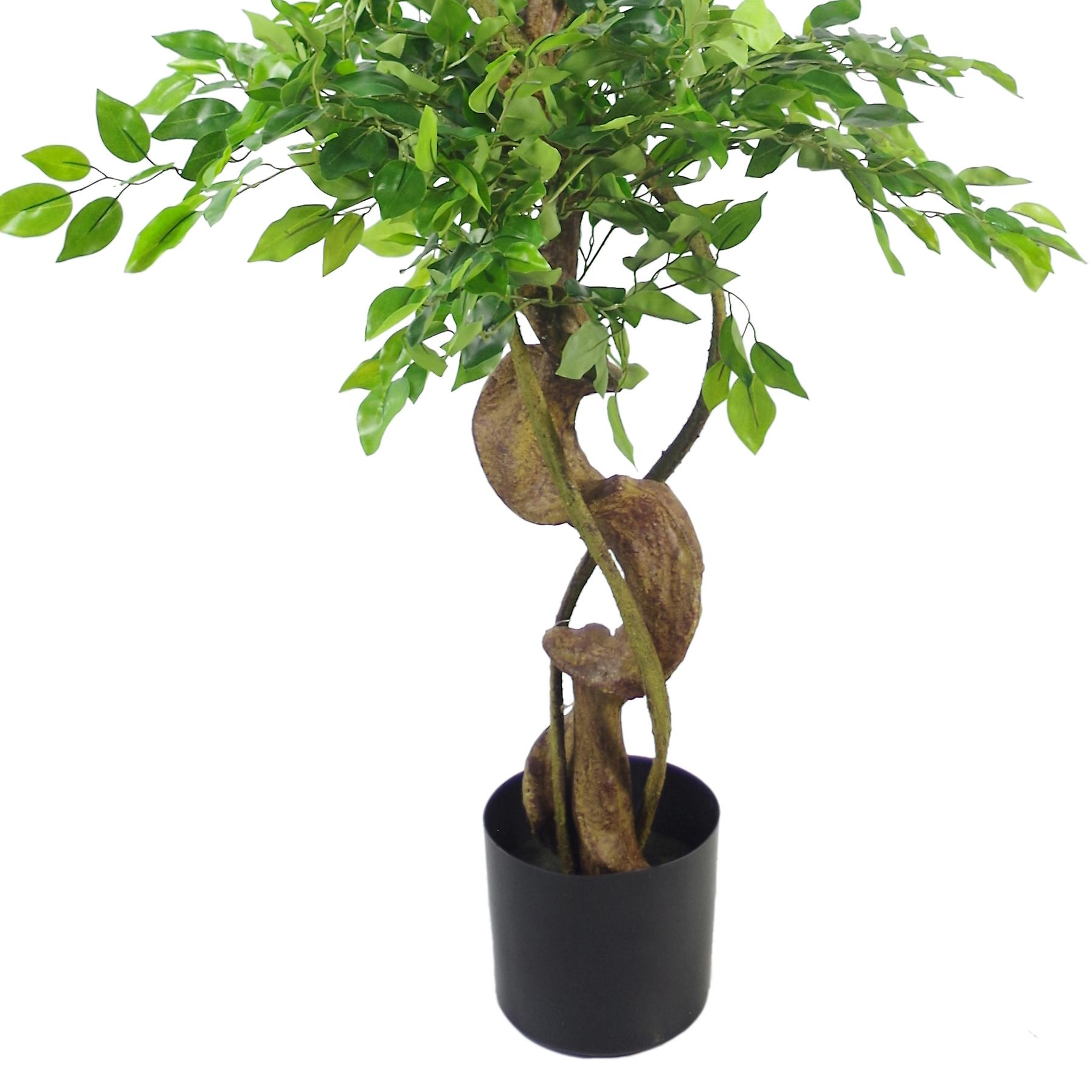 150cm Twisted Trunk Artificial Japanese Fruticosa Style Ficus Tree