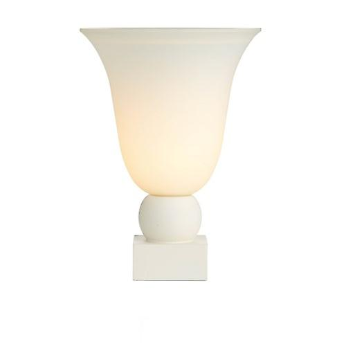 David Hunt PLI4233 Plinth Table Lamp With A Cream Base And Marble Effect Glass