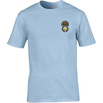 Royal Welsh Fusliers - Camiseta Premium bordada con licencia del Ejército Británico