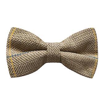 Luxe licht eiken visgraat-Check strikje, Tweed