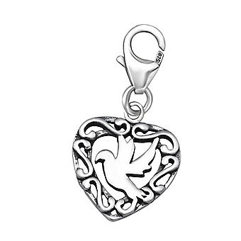 Bird - 925 Sterling Silver Charms with Lobster - W24584X