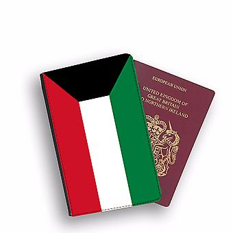 KUWAIT Flag Passport Holder Style Case Cover Protective Wallet Flags design