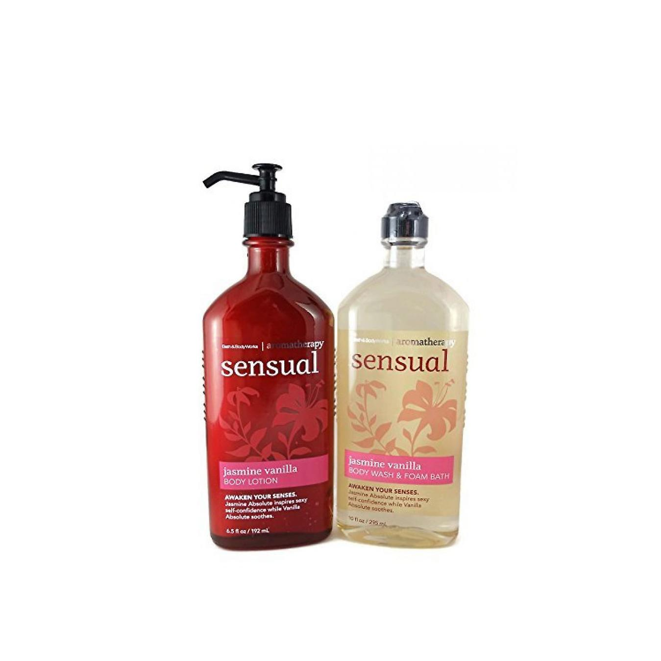 Bath & Body Works Aromatherapy Sensual Jasmine Vanilla Gift Set