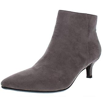 Naturalizer Womens Giselle Faux Suede Ankle Booties Gray 5 Medium (B,M)