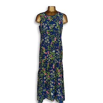 C. Wonder Petite Dress Petite Botanical Floral Print Maxi Navy Blue A288826