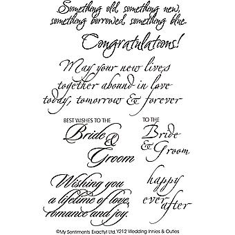 Mes Sentiments exactement Clear Stamps 4 « X 6 » feuille mariage Y212