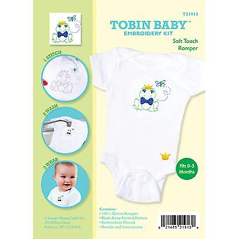 Tobin Baby Frosch Softtouch Romper Stickerei Kit passt 0 3 Monate T21913