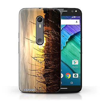 STUFF4 Case/Cover for Motorola Moto X Style/Barley Fields/Sunset Scenery