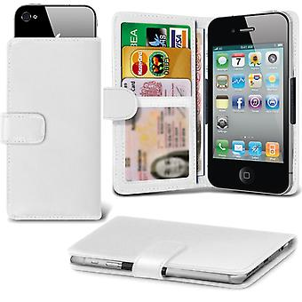( White +Earphones) Case For HomTom HT17 Faux Leather Holdit Adjustable Wallet HomTom HT17 Cover By i-Tronixs