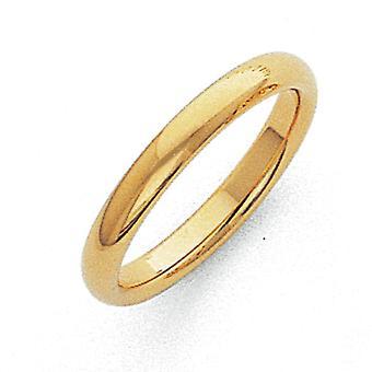 10 k solido lucido Comfort fit 3mm Comfort-Fit Band Ring - anello di dimensioni: da 4 a 12