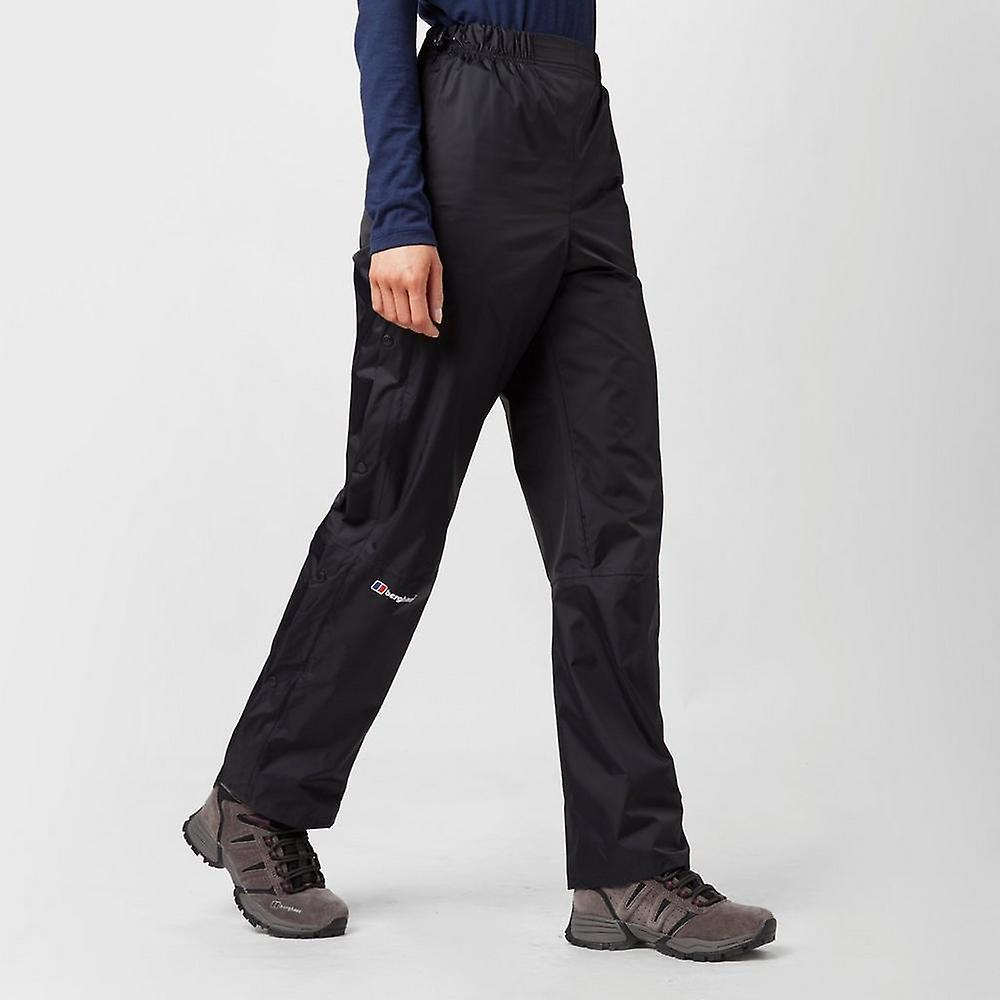 Berghaus Women's Deluge Black Overtrousers - Buy Berghaus Womens Deluge Waterproof Trousers Online Today.