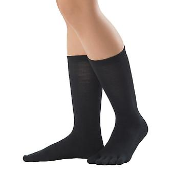 Knitido SilkRoad silk stockings | Calf-length toe socks made of silk