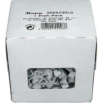 Cable clips Grey Kopp 355402010 355402010 200 pc(s)