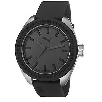 PUMA watch wrist watch men's U turn PU103731001 black