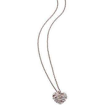 Guess ladies chain necklace stainless steel Rosé gold UBN21620