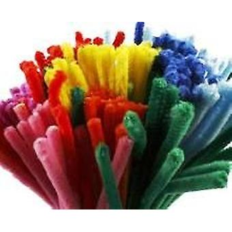 200 Chunky 9mm Wide Craft Pipe Cleaners | Chenille Stems