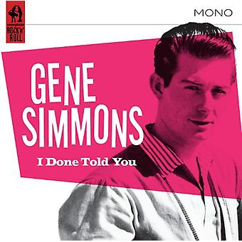 Gene Simmons - gjort fortalte du [CD] USA import