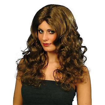 Glamour Longhairy party wig curly 50cm