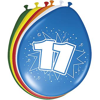 Colorful balloons balloon number 11 birthday 8 St. decoration balloons party