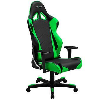 DX Racer DXRacer OH/RE0/NE High-Back Racing Office Chair Video Rocker Gaming chair PU(Black/Green)