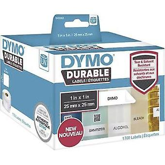 DYMO Labels (roll) 25 x 25 mm White 1700 pc(s) Permanent 1933083 All-purpose labels, Address labels
